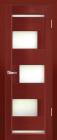 Модена ДО Махагон. Тип двери: остекленная