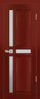 Равелла ЧО Махагон. Тип двери: частично остекленная.