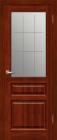 Венеция ДO Махагон. Тип двери: остекленная с рисунком.