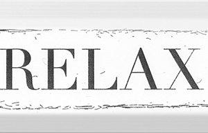 Декор Relax чёрный