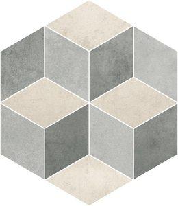Cemento светло-серый Декор Резаный 450х520